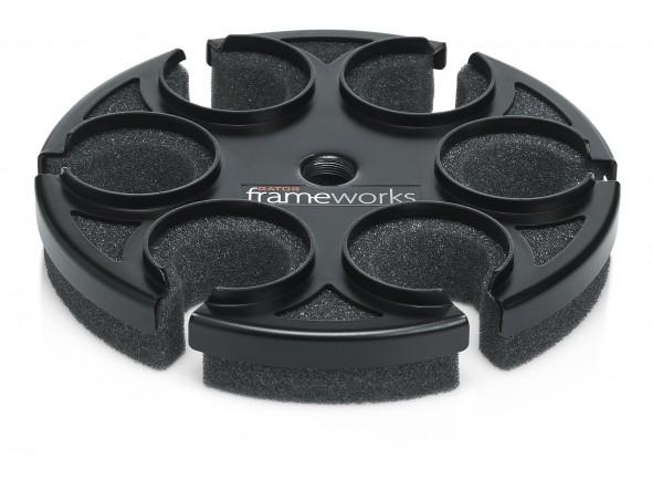 Soporte de micrófono Gator Frameworks GFW-MIC-6TRAY Suporte 6 Micro
