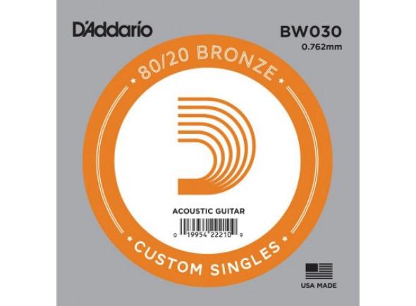 Cuerdas individuales para guitarra D'Addario BW030 Bronze Wound Acoustic guitar single string .030