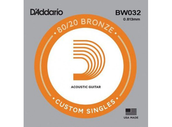 Cuerdas individuales para guitarra D'Addario 80/20 Bronze Acoustic Single Strings BW032