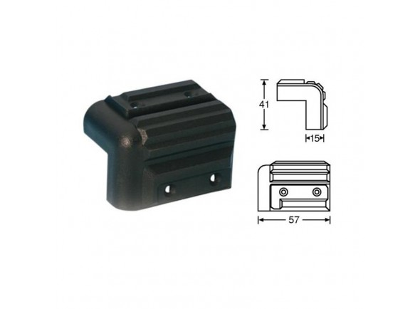 Peças para racks e cases Adam Hall 4071 Cabinet Corner plastic