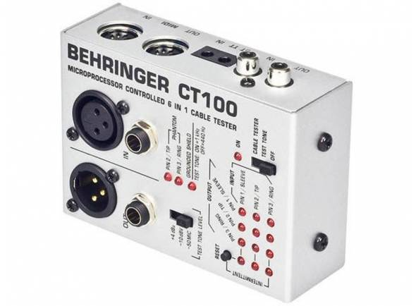 Procesadores de efectos Behringer Cabo Tester ct100