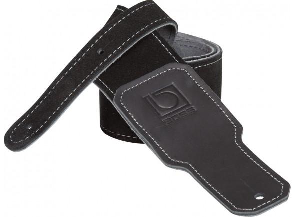 Cinturón de cuero BOSS BSS-25-BLK Correia de Couro para Guitarra e Baixo