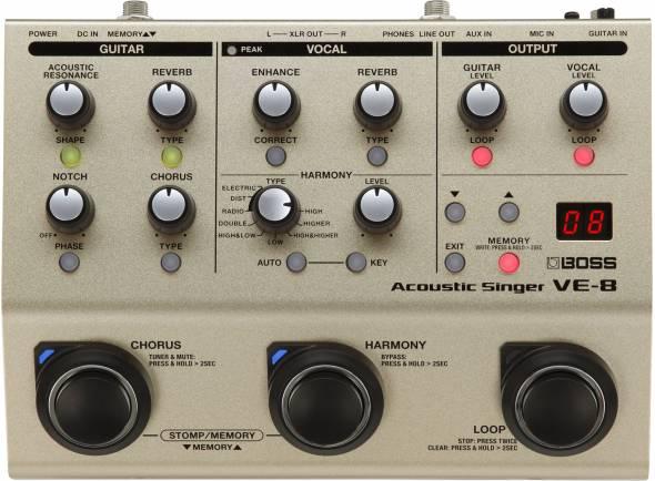Procesadores para vocalistas BOSS VE-8 Harmonizer Profissional