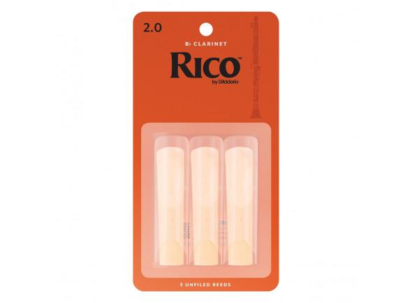 Cañas De Clarinete D´Addario Woodwinds Rico Bb- Clar 2.0 3-Pack