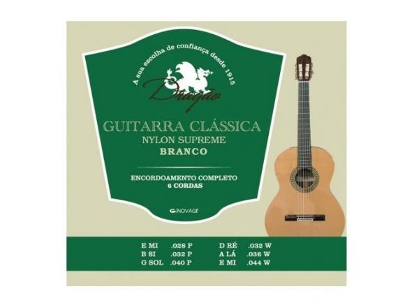Juegos de cuerdas para guitarra clásica Dragão Nylon Supreme Branco