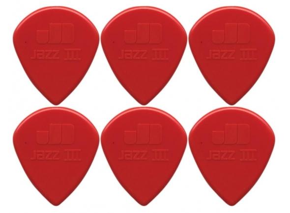 Púas de guitarra Dunlop Jazz Plectrums III XL Red 6P