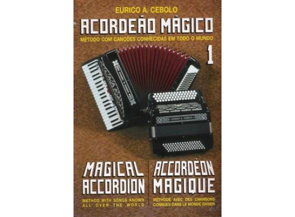 Libros de acordeón Eurico A. Cebolo Acordeão Mágico 1 com CD