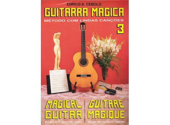 Libros de guitarra Eurico A. Cebolo Guitarra Mágica 3