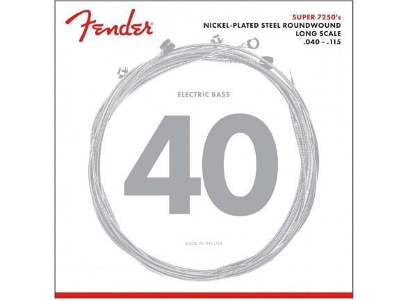 Juego de cuerdas .040 para bajo eléctrico de 5 cuerdas Fender 7250 5L