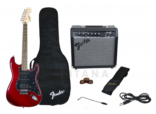 Paquetes de guitarra Fender Affinity Strat Pack HSS Candy Apple Red B-Stock
