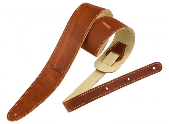 Cinturón de cuero Fender Ball Glove Leather Strap BRN