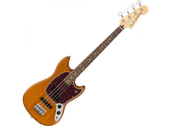 Bajo de 4 cuerdas Fender Mustang Bass PJ Aged Natural