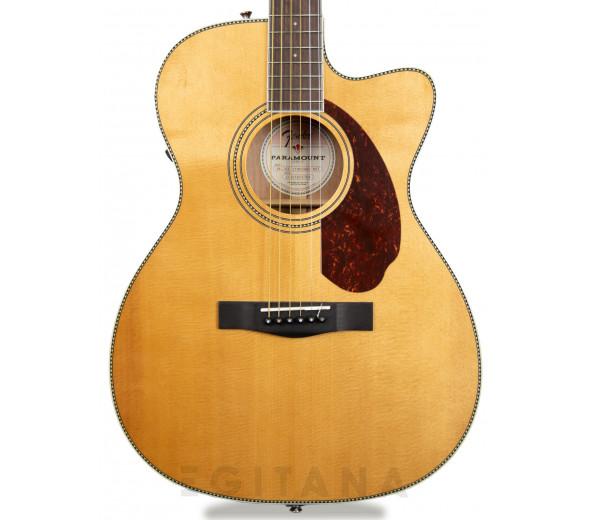 Guitarras folklóricas Fender PM-3 Triple-0 Standard OV Natural Com Estojo
