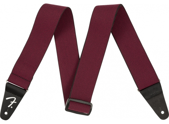 Correa de nylon Fender Weighless Strap Red Tweed