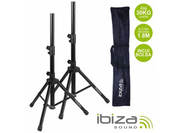 Soportes de altavoces Ibiza Conjunto 2 Suportes P/ Colunas C/ Bolsa 1.8m 30kg