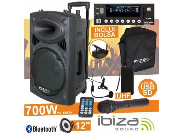 Sistemas de baterías portátiles Ibiza PORT12UHF-BT