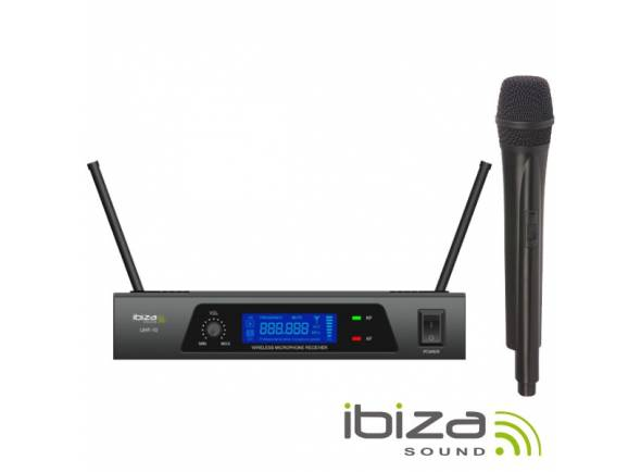 Sistema inalámbrico con micrófono de mano. Ibiza UHF 10 MICROFONE S/FIOS 1 CANAL UHF