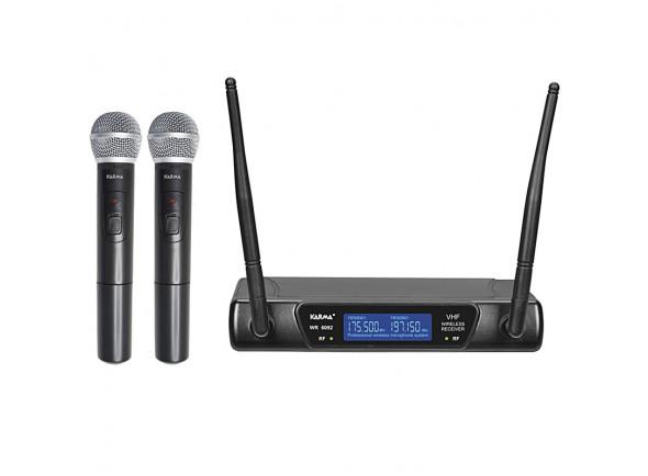 Sistema inalámbrico con micrófono de mano. Karma  (2 unid) +Receptor VHF 175/197MHz KM-SET6092A