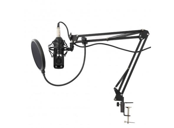 Micrófono de diafragma grande Karma  Microfone Estúdio c/ Suporte KM-CMC20