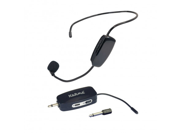 Sistema inalámbrico con micrófono de cabeza Karma  Microfone Cabeça s/ Fios + Receptor UHF (ficha 3,5mm) KM-MASTER20
