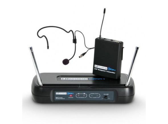Sistema inalámbrico con micrófono de cabeza LD Systems  ECO 2 BPH B6 II