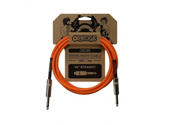 Cable de instrumento Orange Cable Crush 10ft Instr Jack 3m