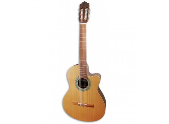 Guitarras clásicas electrificadas Paco Castillo  220 CE Equalizador Cutaway Cedro Sapele