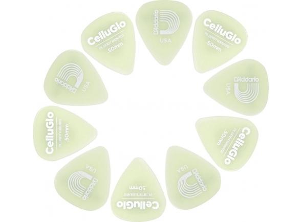 Púas de guitarra Planet waves 1CCG2-10 Cellu-Glo Picks Light
