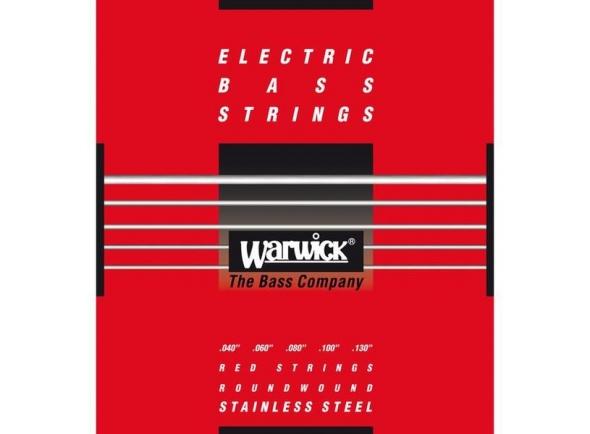 Juego de cuerdas .040 para bajo eléctrico de 5 cuerdas Rock Bass - Warwick 42300 ML Red Label