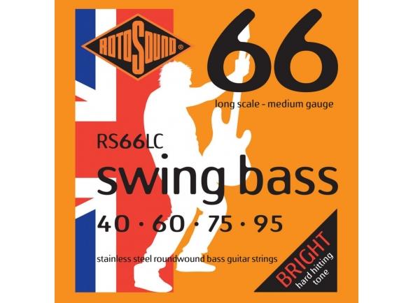 Juego de cuerdas .040 para bajo eléctrico de 4 cuerdas Rotosound RS66LC 40-95