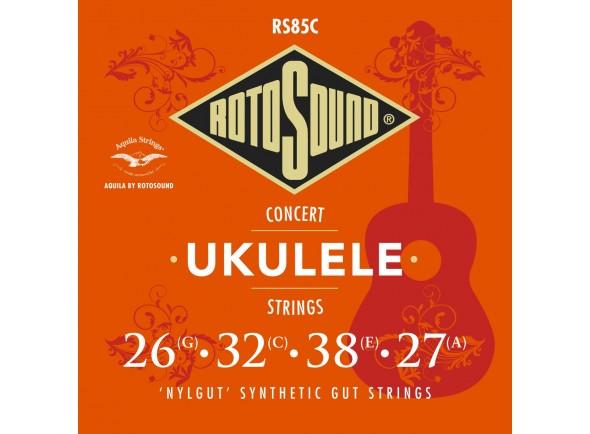 Conjuntos de cuerdas de ukelele Rotosound RS85C Nylgut Concert Ukulele Strings