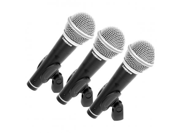 Micrófono vocal dinámico Samson R21 Cardioid Dynamic Vocal Microphone 3-Pack