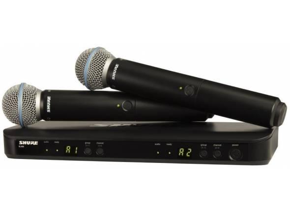 Sistema inalámbrico con micrófono de mano. Shure BLX288/Beta 58 H8