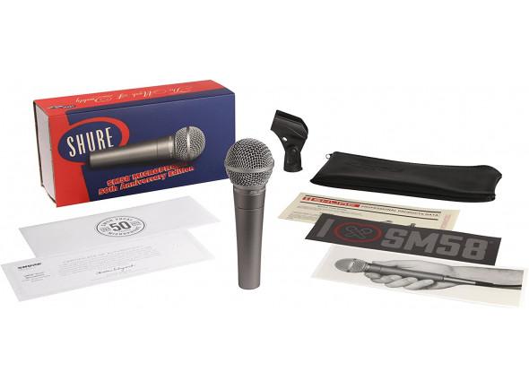 Micrófono vocal dinámico Shure  SM58-50A Anniversary Edition