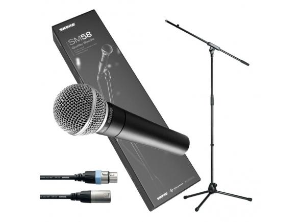 Micrófono vocal dinámico Shure SM58 Quality Bundle