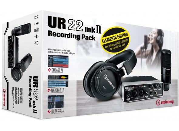 Interfaz de audio USB Steinberg UR22MKII Recording Pack Elements Edition