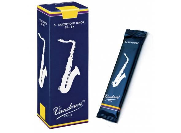 Cañas de saxofón tenor Vandoren Classic Blue 4 Tenor Sax