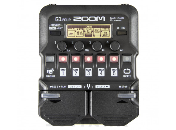 Pedales de guitarra electrica Zoom G1 Four Multi-Effect-Pedal